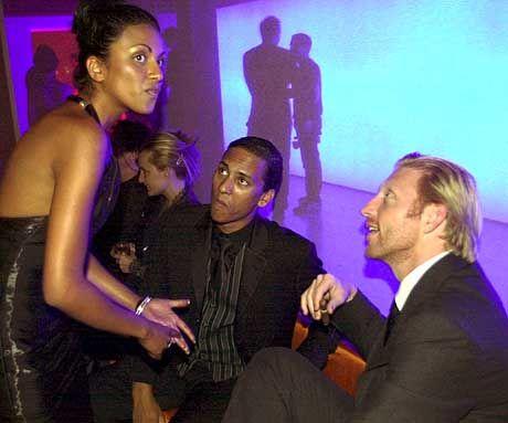 Sabrina Setlur, Xavier Naidoo und Boris Becker bei einer Feier in Monte Carlo