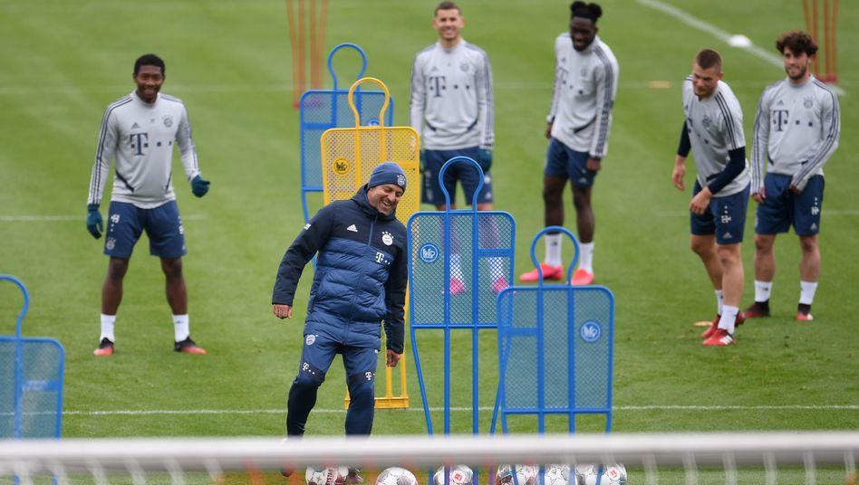 Bayern München trainiert aktuell noch in Kleingruppen - darf bald aber wieder richtig spielen