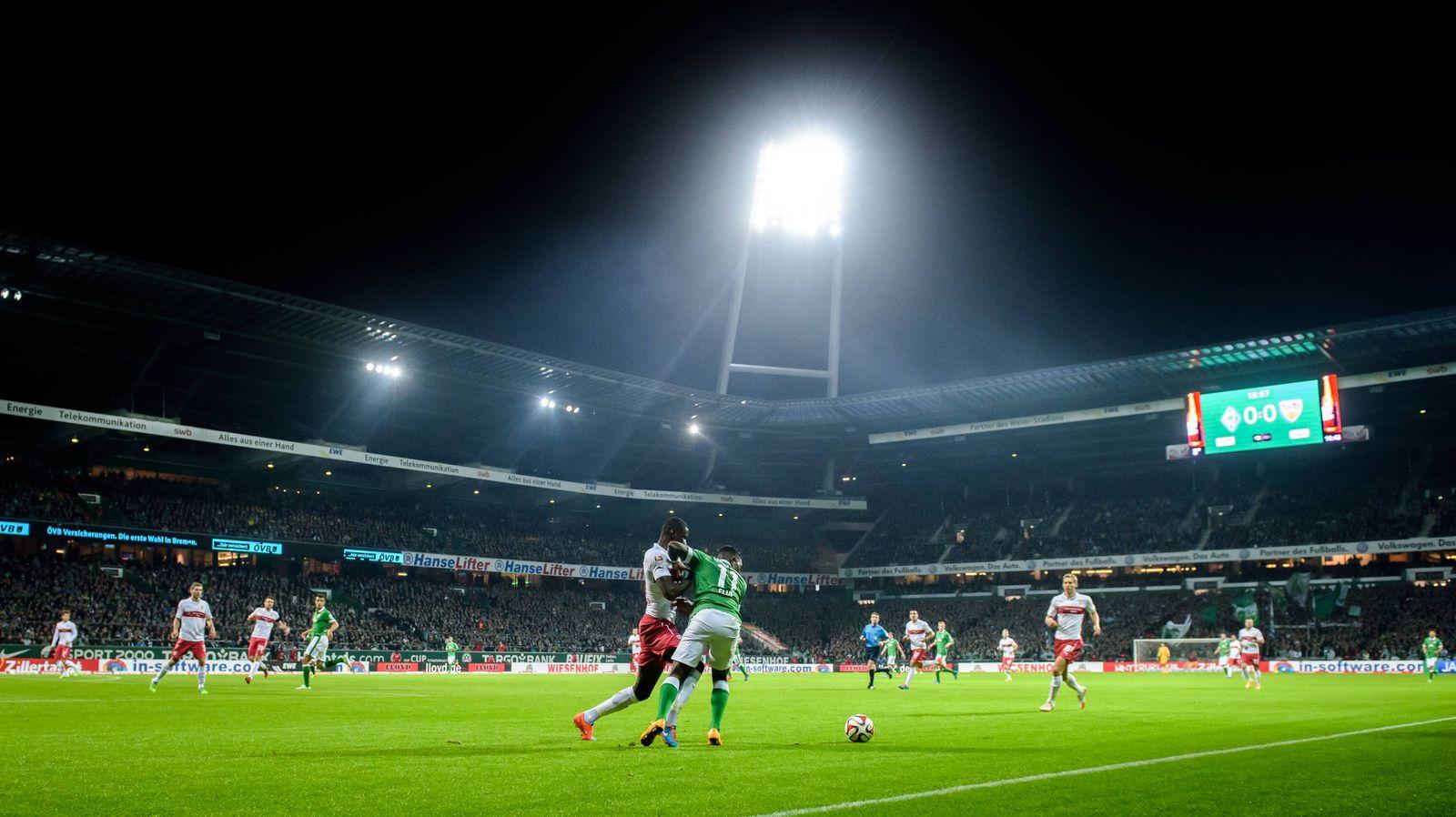 EINMALIGE VERWENDUNG Symbolbild Flutlicht/ Stadion/ Bundesliga