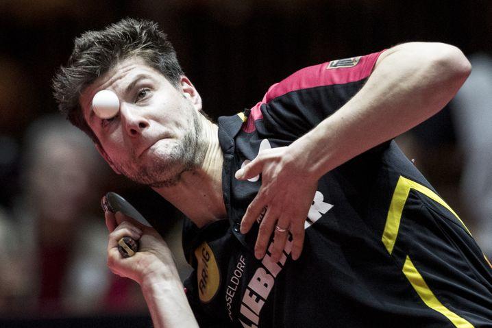 Dimitrij Ovtcharov bei der Tischtennis-WM in Düsseldorf 2017 (Archiv)