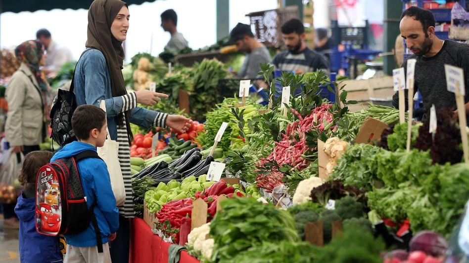 Ein Markt in der Türkei