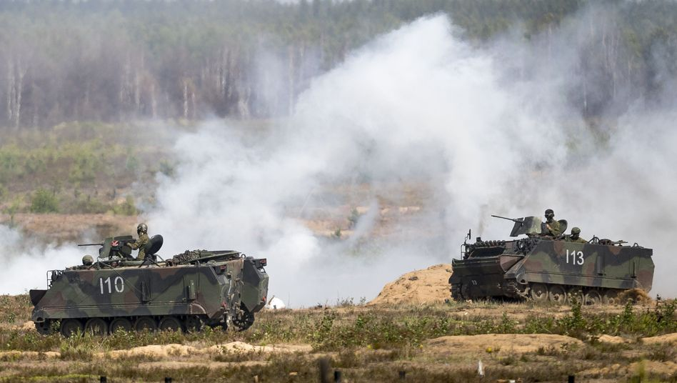 A NATO military exercise in Lithuania in June.
