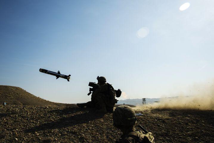 US-Soldaten mit Javelin-Panzerabwehr in Afghanistan