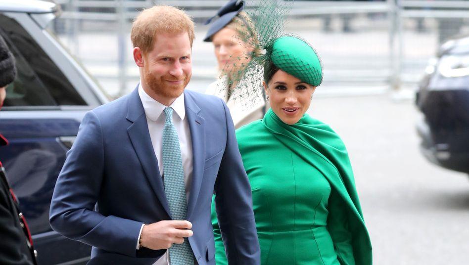 Prinz Harry und Herzogin Meghan (Archivbild): Soziale Projekte geplant