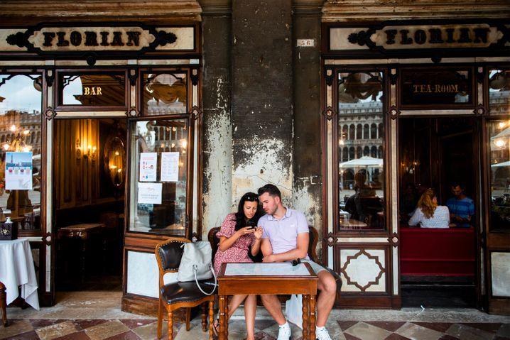 Von Woche zu Woche kommen wieder mehr Touristen nach Venedig, vor allem aus Deutschland und anderen europäischen Ländern