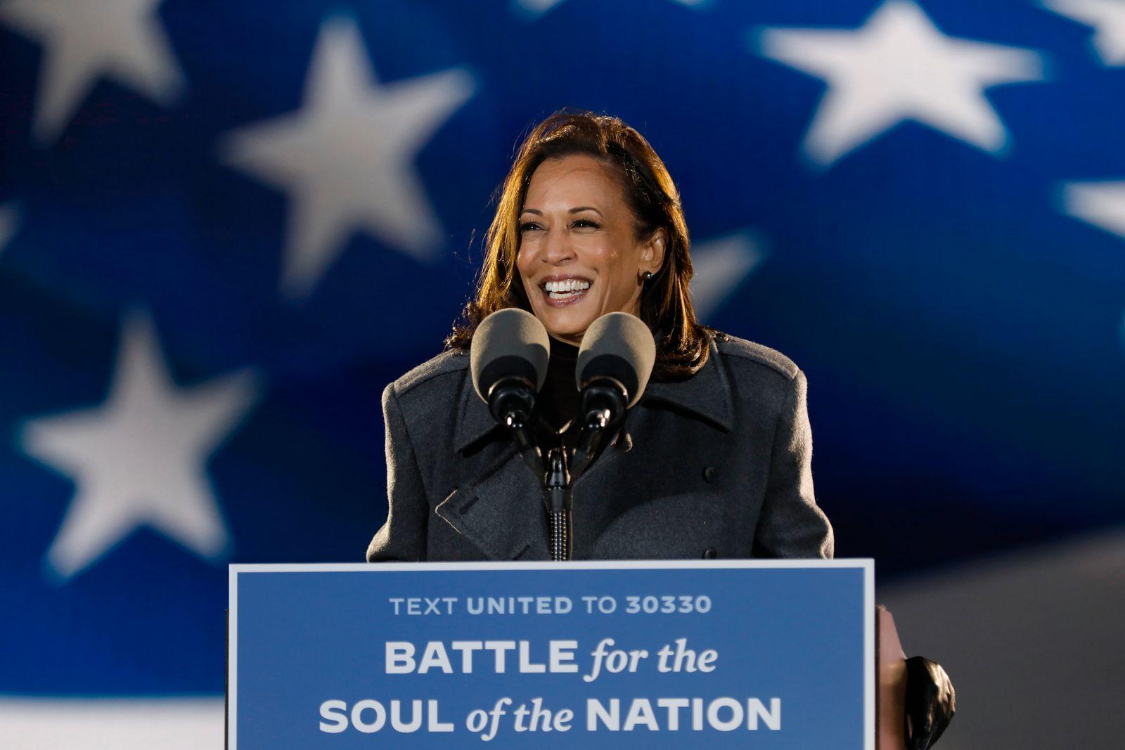 Senator Kamala Harris, rally, Nov. 2, 2020, Philadelphia, Pennsylvania voters
