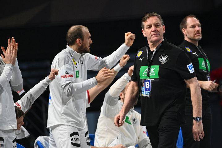 Trainer Gislason war auch nach dem Spiel mit Gensheimer unzufrieden