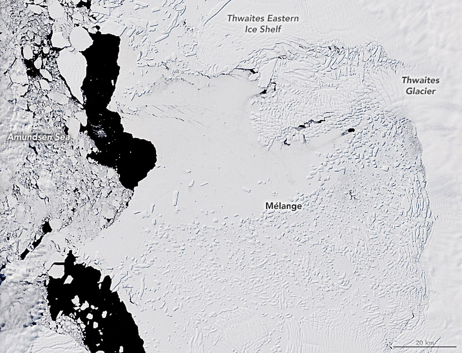 Thwaites glacier transformed