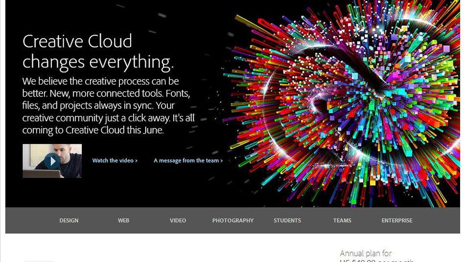 Adobe-Website (Screenshot): Es geht um Passwörter und Kreditkartendaten