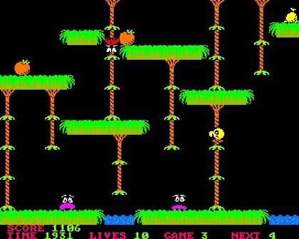"""DDR-Spiel """"Jungle"""": """"Pitfall""""-Klon mit abgefahrenen Grafiken, richtig gutem 8-Bit-Sound und 1000 Leveln"""