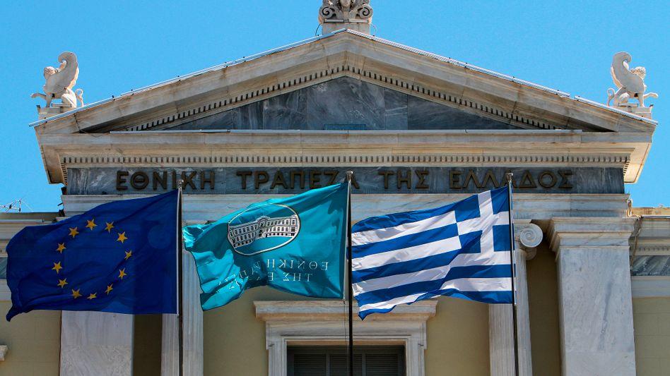 Griechische Zentralbank in Athen: Finanzielle Situation spürbar verbessert