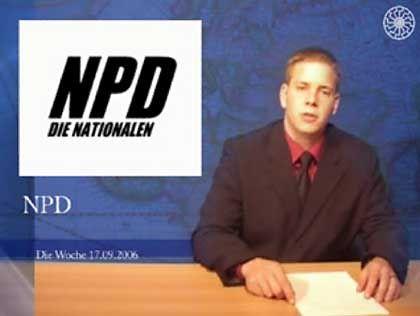 """NPD-Testsendung mit Moderator Marcel Wöll: """"Medienoffensive mit bewegten Bildern"""""""