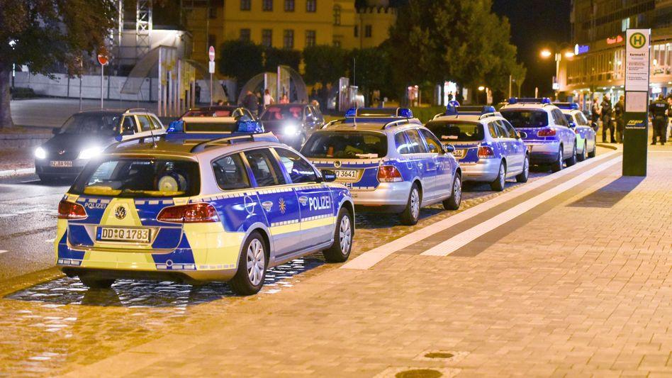 Großaufgebot der Polizei in Bautzen