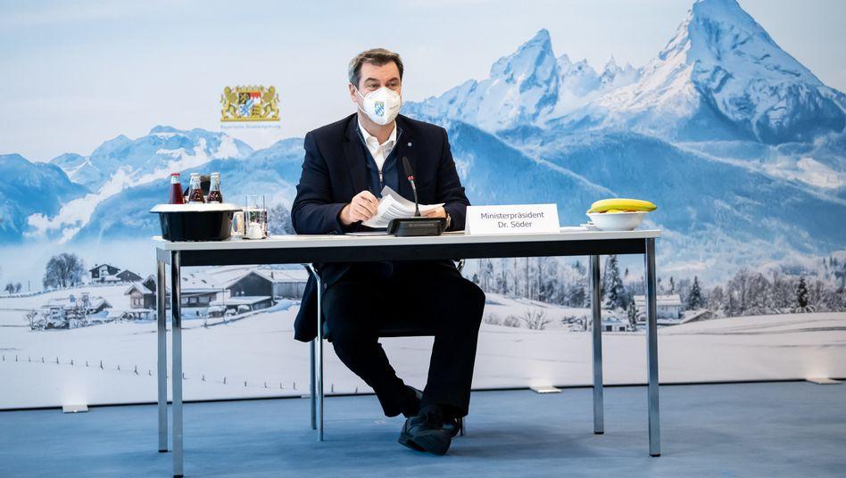 Bayerns Ministerpräsident Markus Söder (CSU): »Die Freiheit kommt nur durch Impfungen zurück«