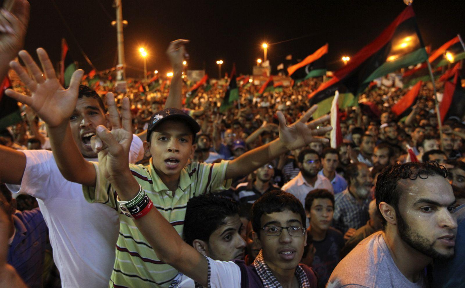 Libyen Siegesfeier