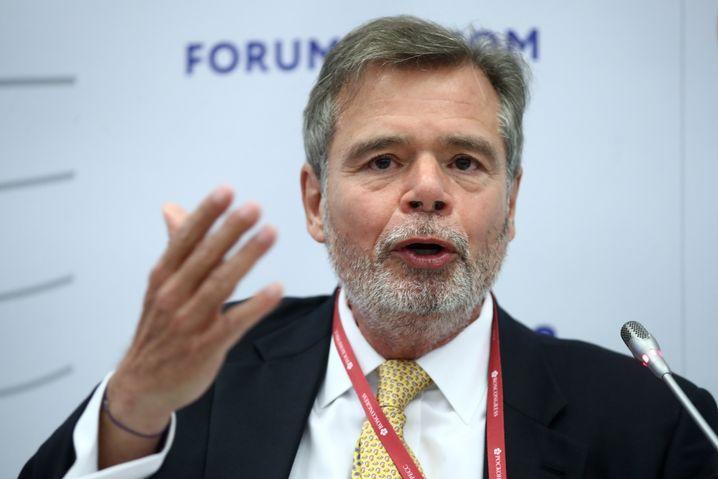 Friedbert Pflüger beim Economic Forum in Petersburg