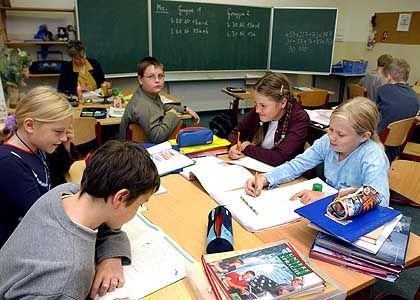 Gruppenarbeit: Selten in kleinen und in großen Klassen