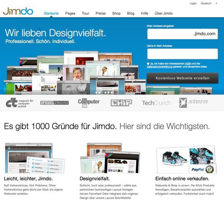 Jimdo: Nicht mehr ganz so junger Wettbewerber aus Deutschland