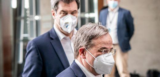Armin Laschet und Markus Söder in der CDU/CSU-Fraktion: Die Entladung