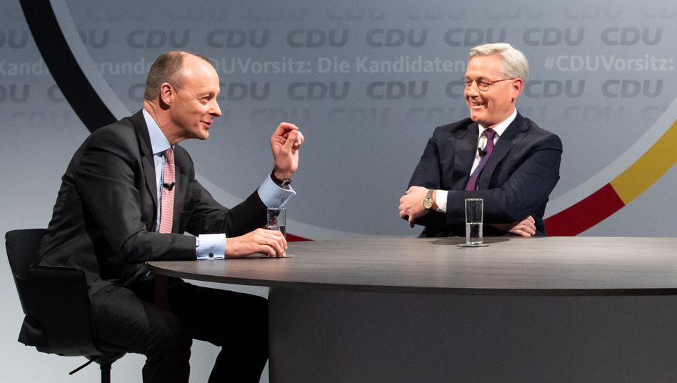 Friedrich Merz (l.) und Norbert Röttgen