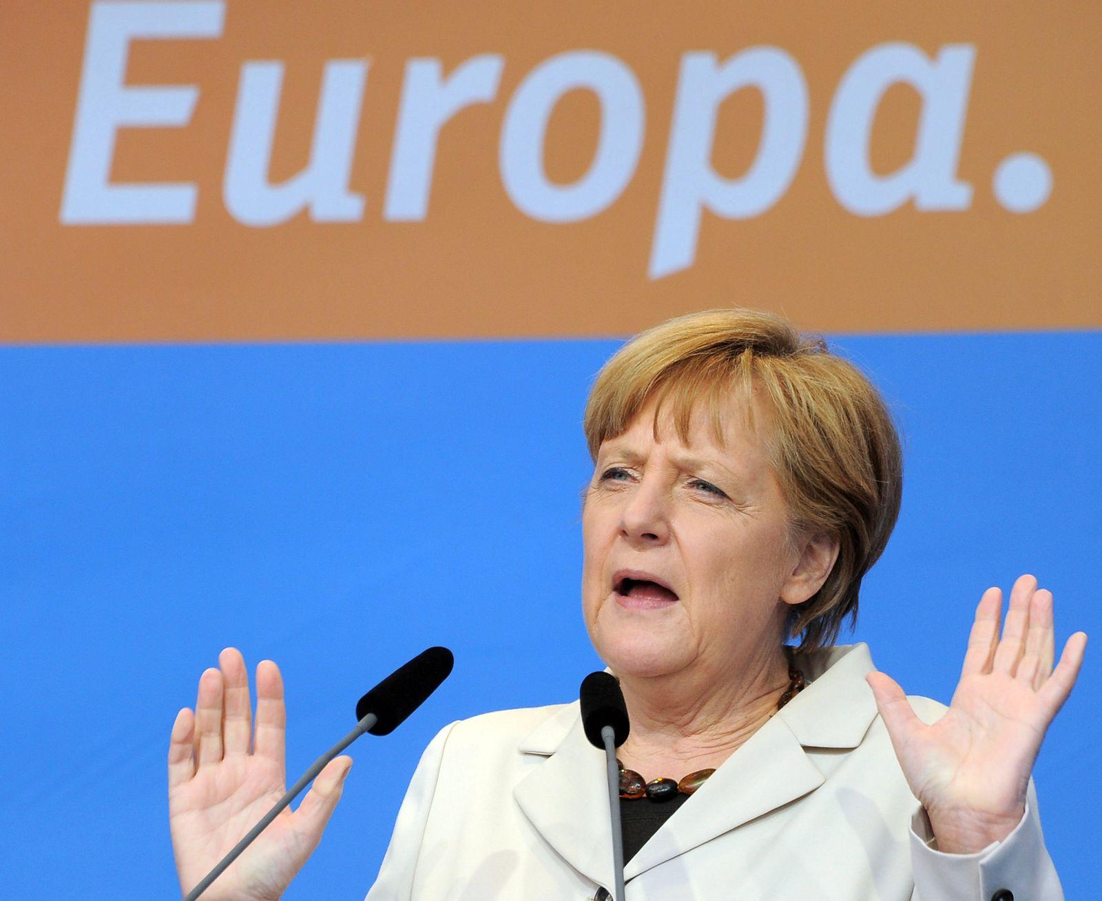 Wahlkampfveranstaltung mit Merkel