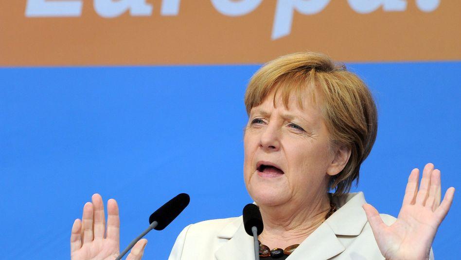 """Merkel (CDU) bei Wahlkampfauftritt: """"Missbrauch bestmöglich ausschließen"""""""