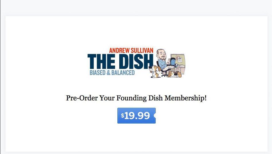 """Vorabversion von """"The Dish"""": Ein Abo kostet 19,99 Dollar im Jahr - oder beliebig mehr"""