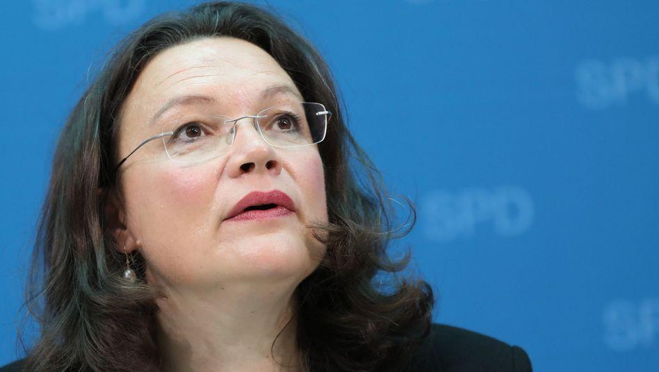 SPD-Fraktionschefin Nahles