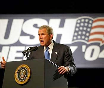Bilanz der Negativ-Rekorde: US-Präsident Bush