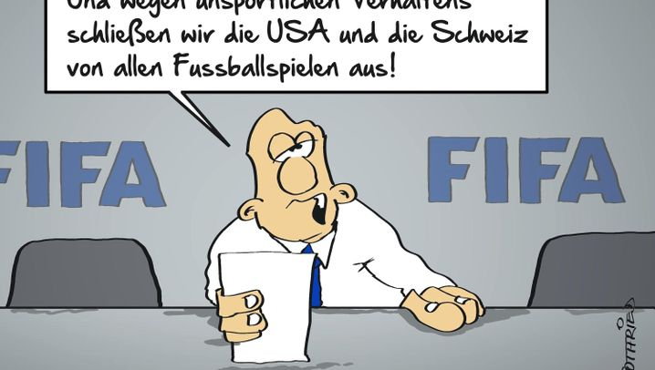 Karikaturen zum Fifa-Skandal: So schön kann schmieren sein