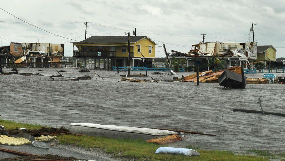 """Hurrikan """"Harvey"""": Die Wucht nimmt ab, die Gefahr bleibt"""