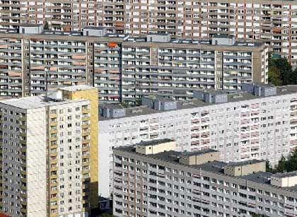 Von wegen Fachwerk-Häuser: Plattenbau in Berlin