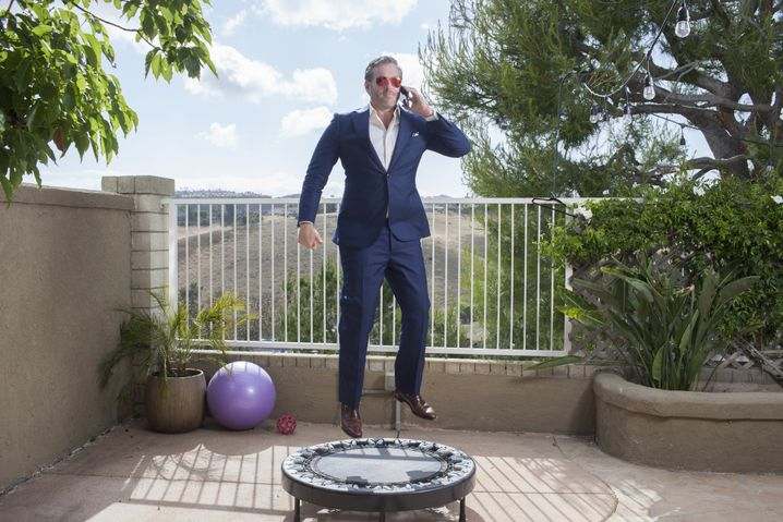 Mike Cernovich at his home in California.