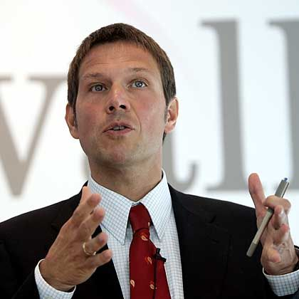 Rene Obermann takes over the helm of Deutsche Telekom on Monday.