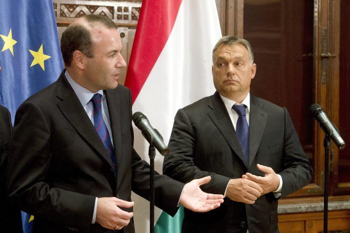 Manfred Weber, Viktor Orbán, 2015