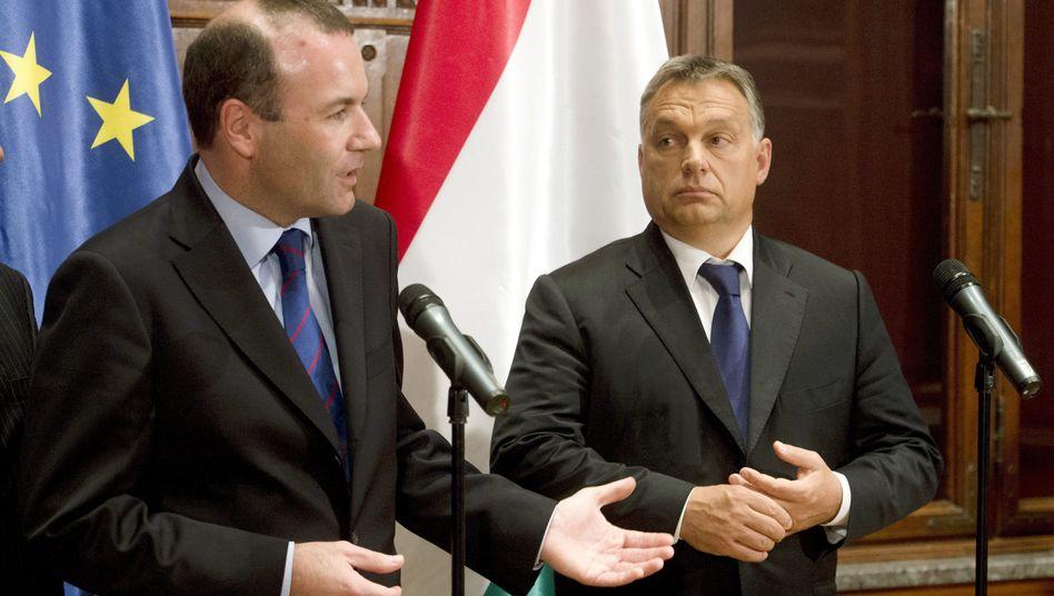 Manfred Weber, Viktor Orbán (Archivbild von 2015):