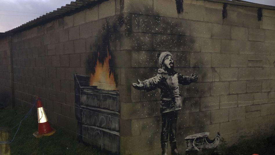 Banksy-Graffiti in Wales
