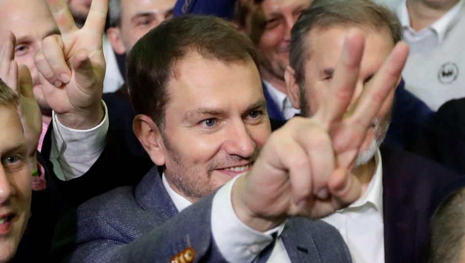 Wahlsieger Igor Matovic: es war ein überraschender Triumph