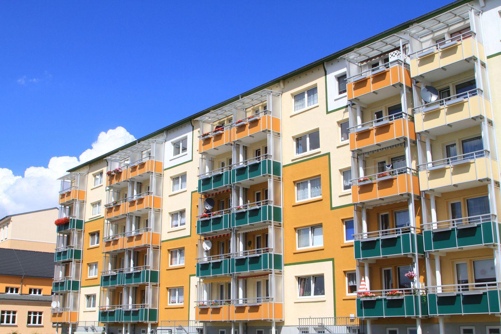 EINMALIGE VERWENDUNG Mietwohnungen Ostdeutschland