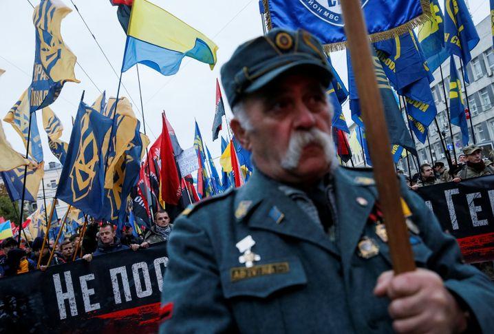 Demonstranten in Kiew