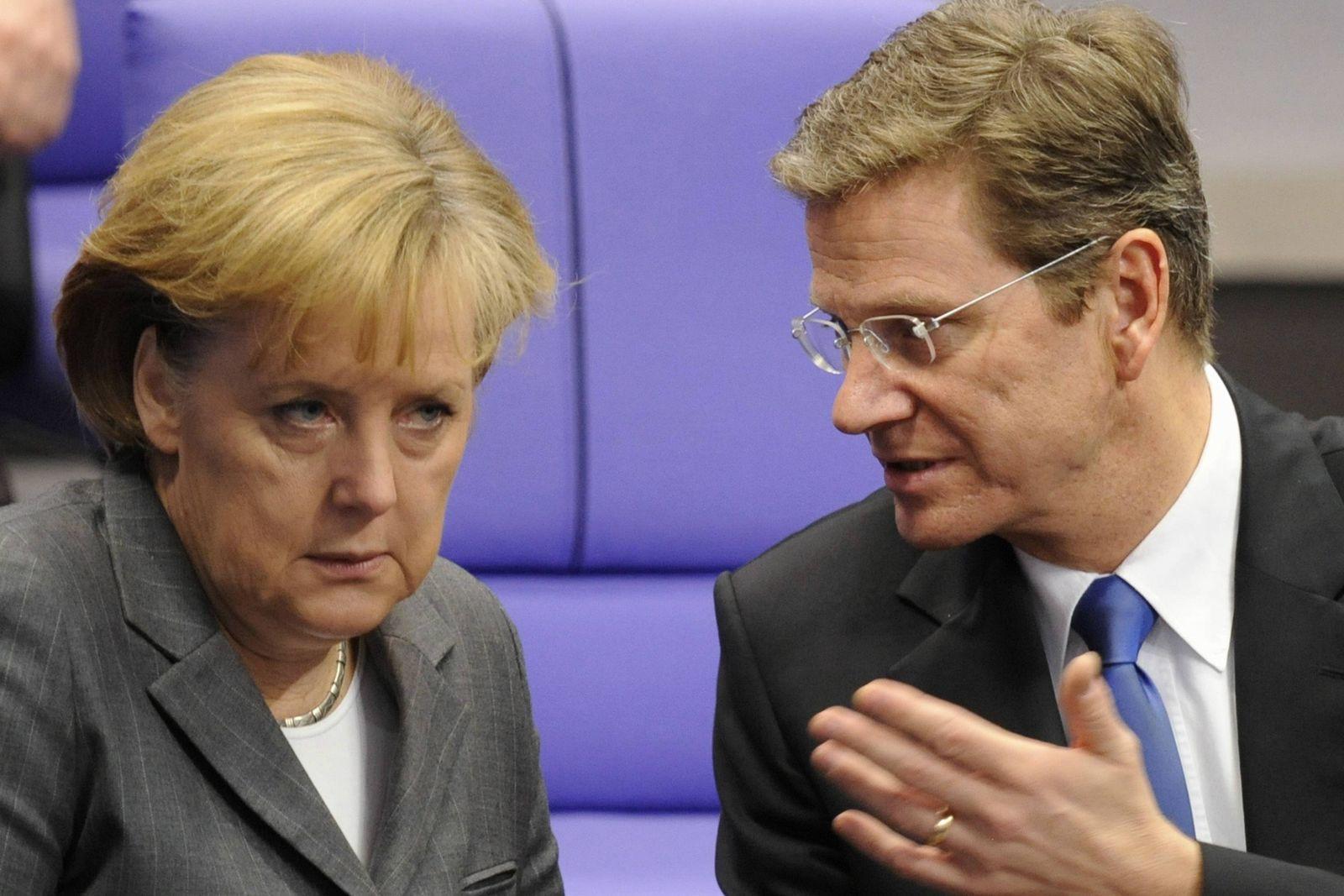 NICHT VERWENDEN Merkel / Westerwelle