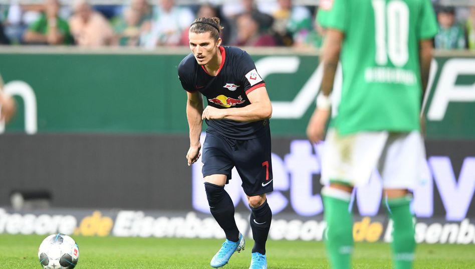 Marcel Sabitzer erzielte per Freistoß das 2:0 für Leipzig gegen Bremen