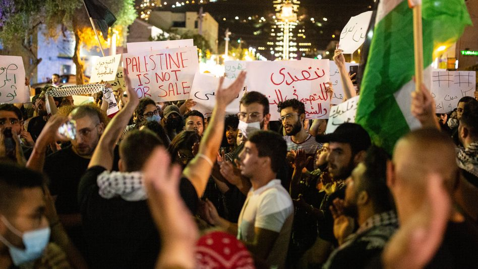 Palästinensischer Protest in Haifa
