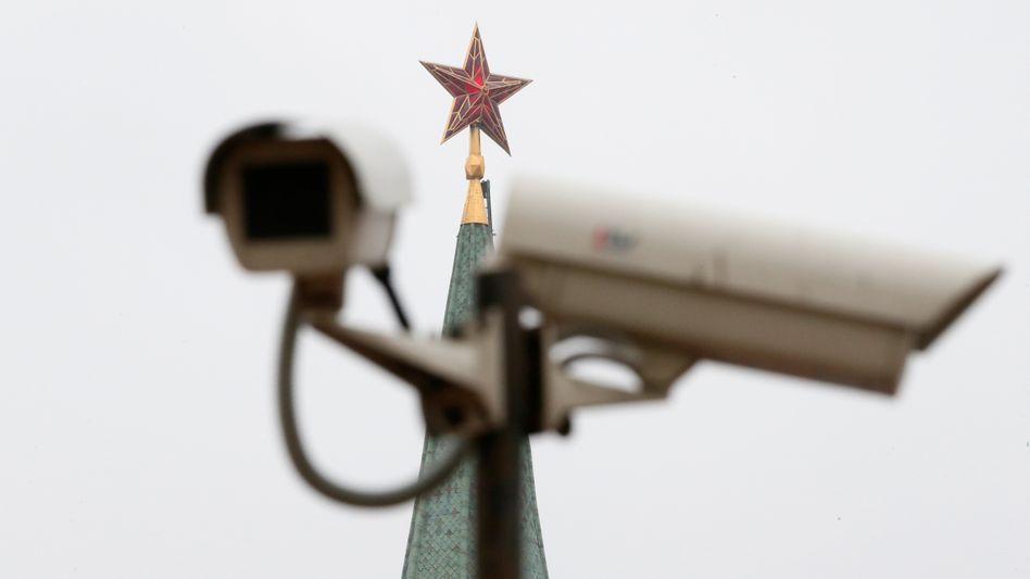 Überwachungskamera in Moskau