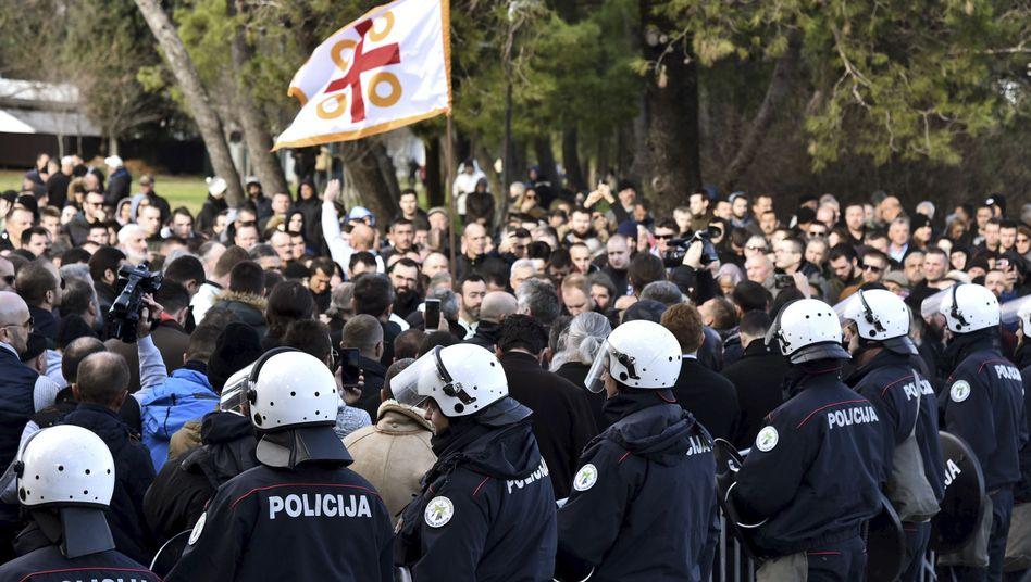 Proteste in der Hauptstadt von Montenegro, Podgorica