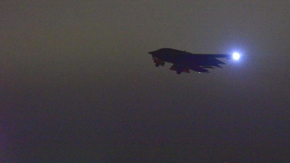 B-2-Langstreckenbomber beim Start von der Whiteman Air Force Base