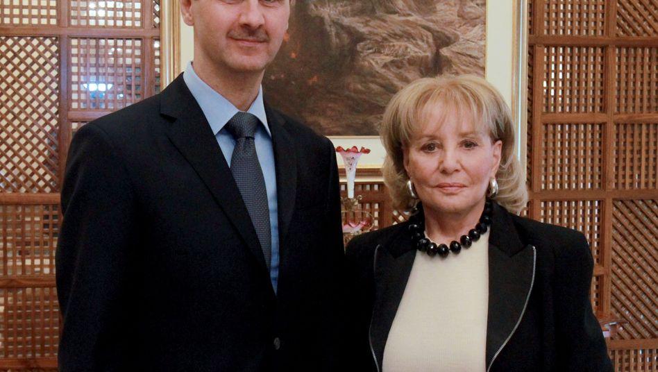 Syriens Präsident Assad mit ABC-Moderatorin Walters: Interview mit Tipps und Tricks