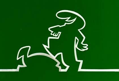 Der Linienmann verdient Kröten - und kämpft mit solchen (Szene aus einem frühen Spot)