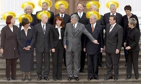 Gottlose Gesellen im himmlischen Reigen: das neue Kabinett Schröder