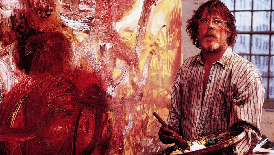 "Nick Nolte als Action-Painting-Maler im Film ""New York Stories""(1989)"